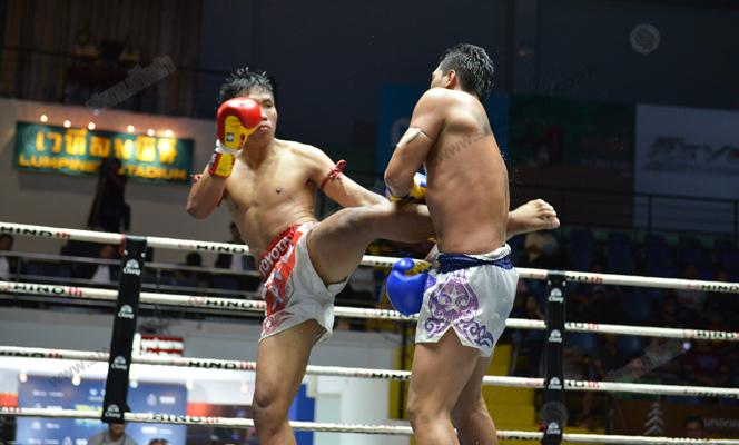 ศึกมวยไทยลุมพินีเกริกไกรทะเลทองชนะแต้มขาดลอย