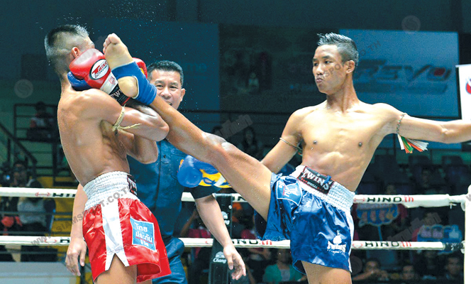 ศึกมวยไทยลุมพินีโชคนำชัยแจ้งเกิดชนะแต้มคู่เอก